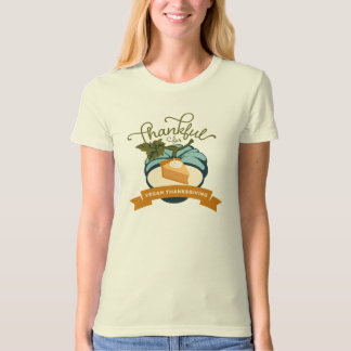 Vegan Thanksgiving Pumpkin Tee - Women's Organic