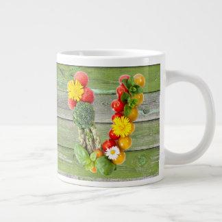 Vegan V Large Coffee Mug
