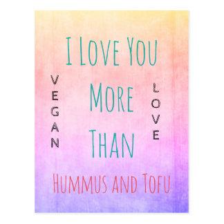 VEGAN VALENTINE Postcard for vegans