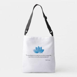 Vegan, Veganism, Save an Animal Quote Crossbody Bag