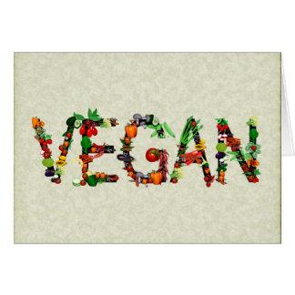 Vegan Vegetables Greeting Card