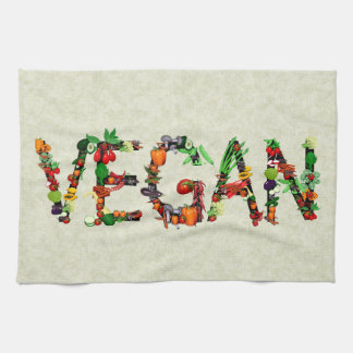 Vegan Vegetables Kitchen Towel