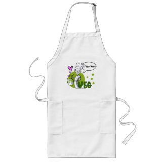vegan-vegetarian cook long apron