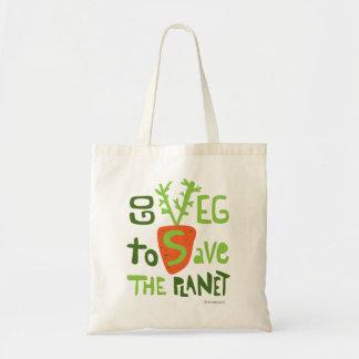 Vegan Vegetarian Doodle Lettering Bag