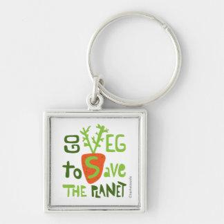 Vegan Vegetarian Hand Lettering Slogan Keychain