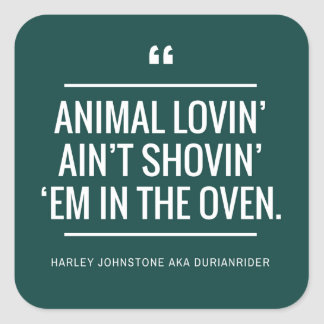 Vegan vegetarian stickers animal rights lovers
