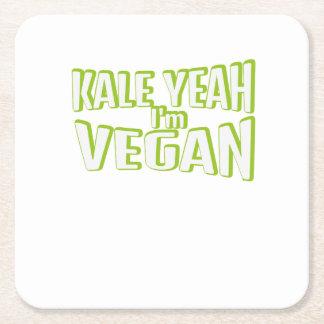 Vegan Vegetarian Vegetable Animal Free Gift Square Paper Coaster
