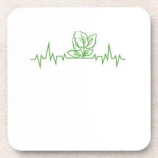 Vegan Vegetarian Vegetable Heartbeats Coaster