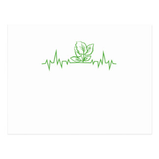 Vegan Vegetarian Vegetable Heartbeats Postcard