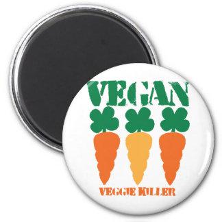 Vegan Veggie killer Fridge Magnet