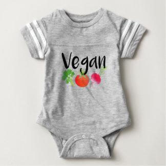 """Vegan"" veggies baby Baby Bodysuit"