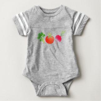 Vegan veggies baby baby bodysuit