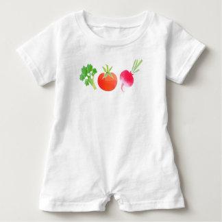 Vegan veggies baby baby romper