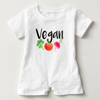 """Vegan"" veggies baby Baby Romper"