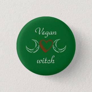 Vegan witch 1 inch round button