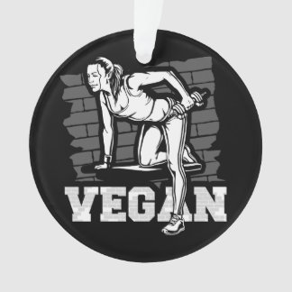 Vegan Womens Fitness Gym Ornament