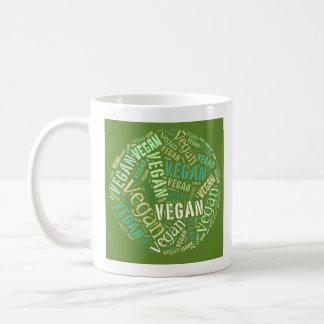 """""""Vegan"""" Word-Cloud Sphere & Quote Coffee Mug"""