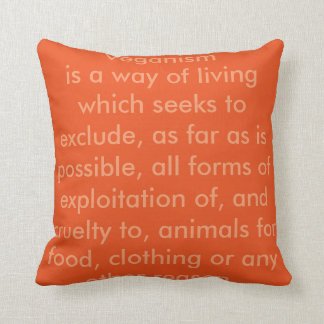 Vegan Word Throw Pillow