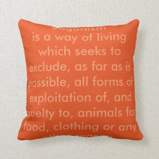 Vegan Word Throw Pillows