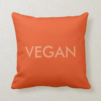 Vegan words throw pillow