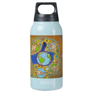 Vegan world insulated water bottle
