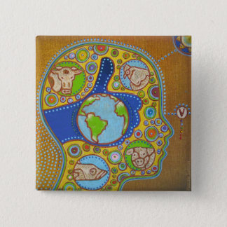 Vegan world like swipes in 2 inch square button
