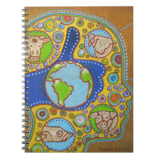 Vegan world notebooks