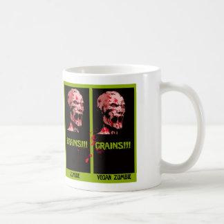 vegan zombie basic white mug