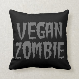 VEGAN ZOMBIE THROW PILLOW