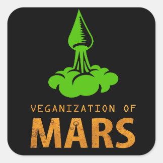 Veganization of Mars Square Sticker
