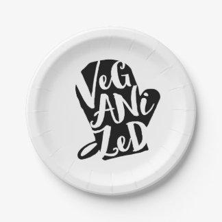 Veganized Vegan Custom Background Color Paper Plate