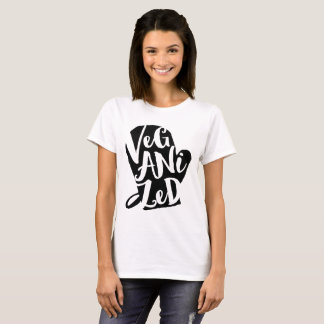 Veganized Vegan Custom Background Color T-Shirt