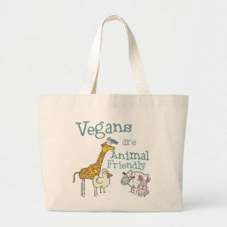 Vegans are Animal Friendly Large Tote Bag