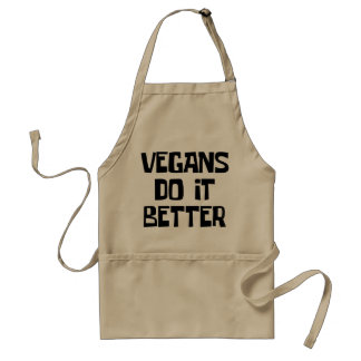 Vegans do it better standard apron