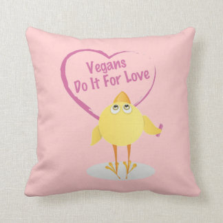 Vegans Do It For Love Throw Pillow