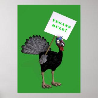 Vegans Rule! Poster
