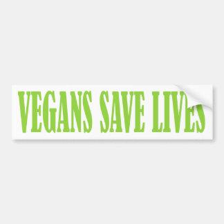 VEGANS SAVE LIVES bumper sticker
