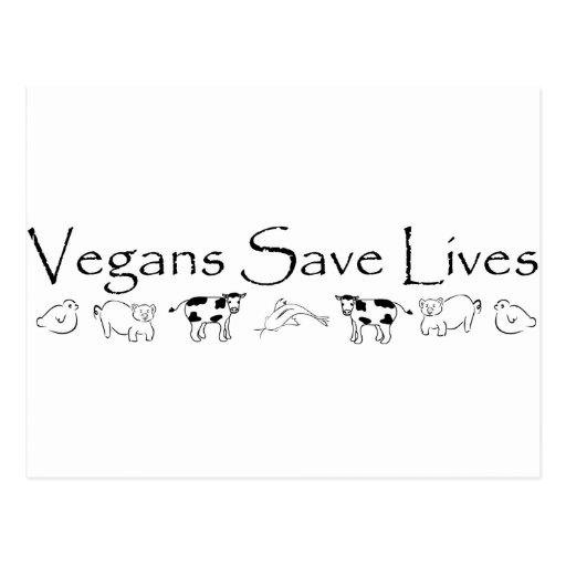 Vegans Save Lives Post Card