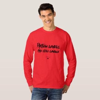 VeganZEN | Protein Levels Still Savage Long Sleeve T-Shirt