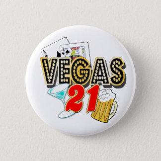 Vegas 21st Birthday 2 Inch Round Button