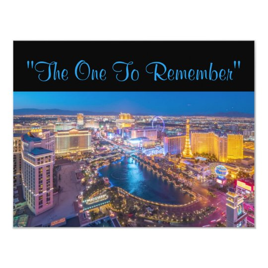 Vegas 40th Birthday Card