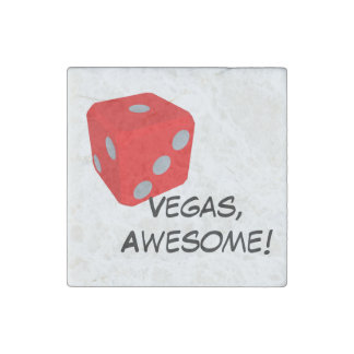 Vegas, Awesome! Quote/ Dice Magnet Stone Magnets