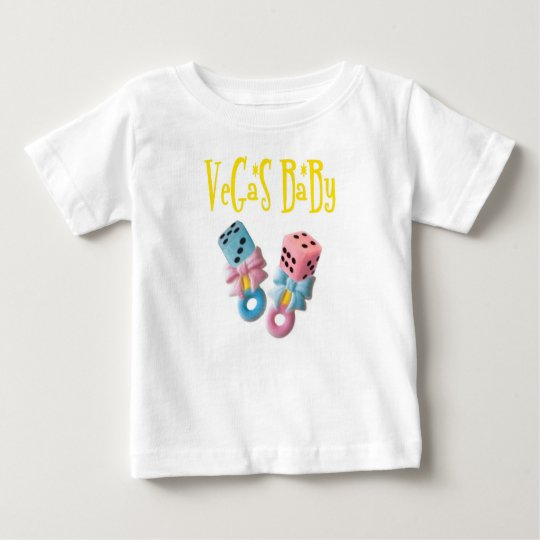 VeGaS BaBy Boy / Girl Pink and Blue Dice Rattles! Baby T-Shirt
