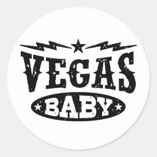 Vegas Baby Classic Round Sticker