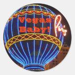 Vegas Baby! Round Sticker