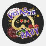 VEGAS BABY ROUND STICKERS