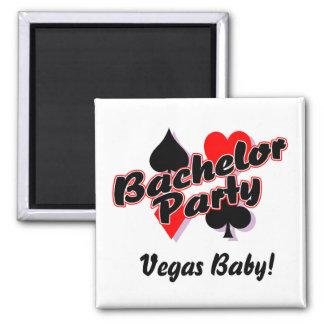 Vegas Bachelor Party Square Magnet