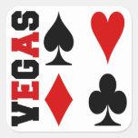 Vegas Card Suits Design Stickers