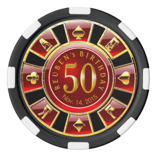 Vegas Casino Chip Red & Black