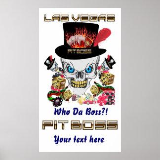Vegas Casino Pit Boss View Artist Comments Poster